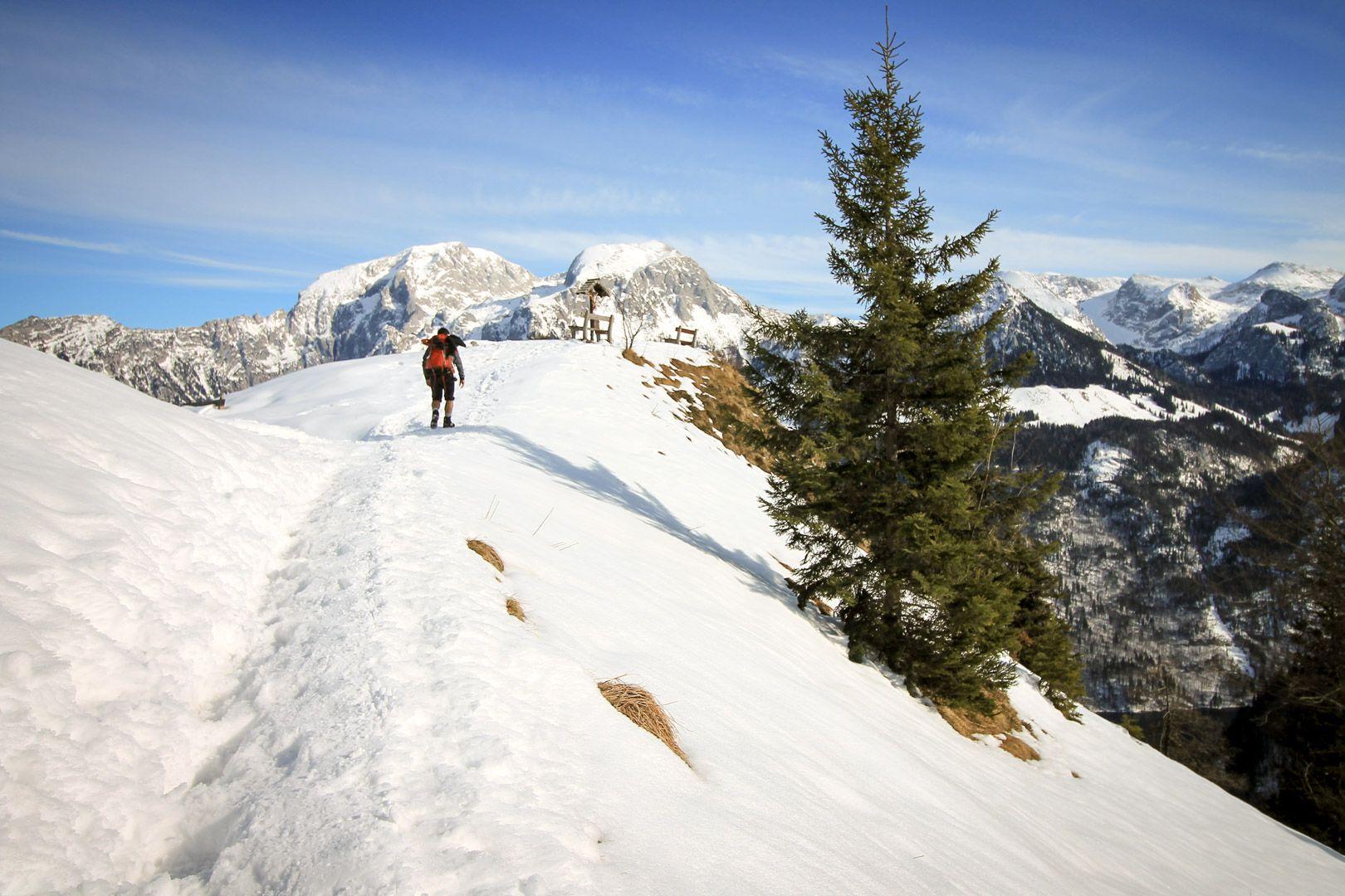 Randonnée en Allemagne en hiver