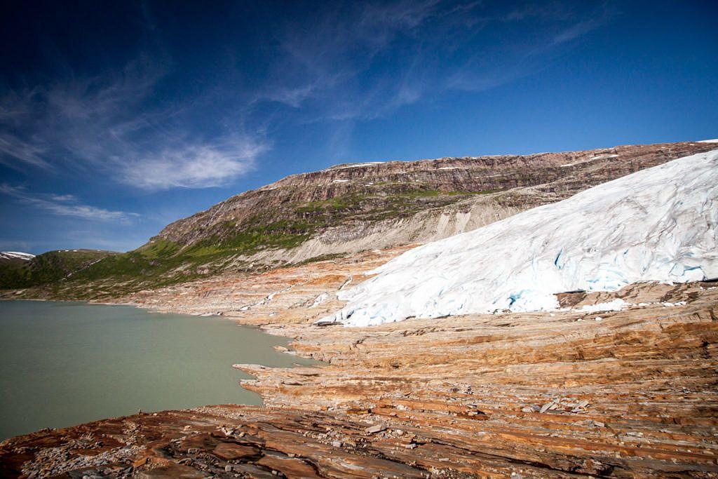 Svartisen glacier Norvège