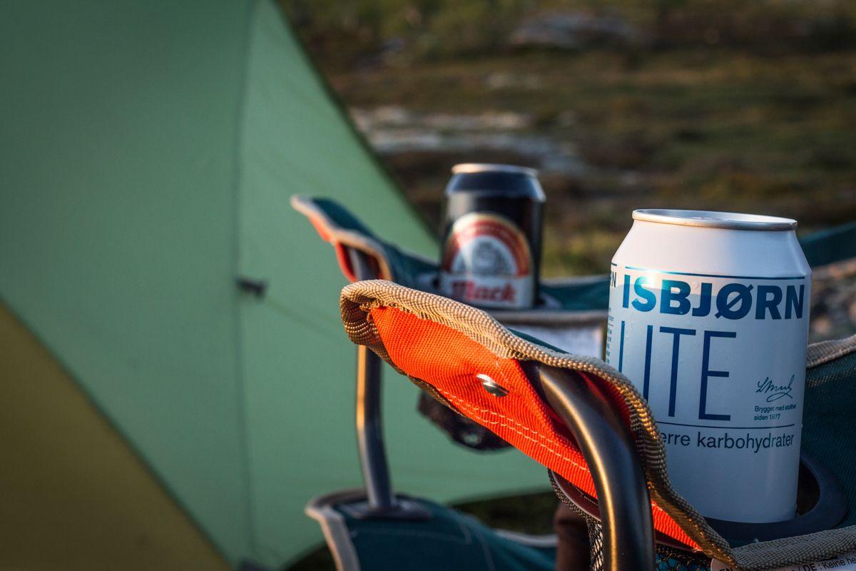 Camping sauvage à Røssvatnet en Norvège