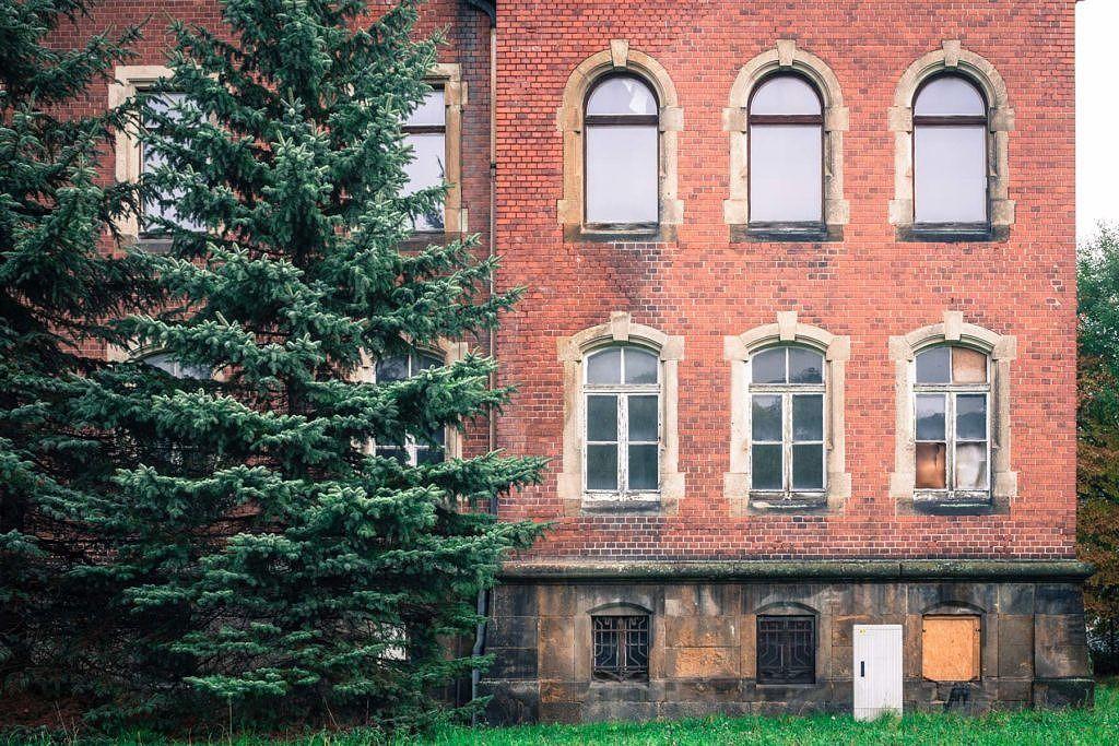 Ville de Pirna en ex-Allemagne de l'est