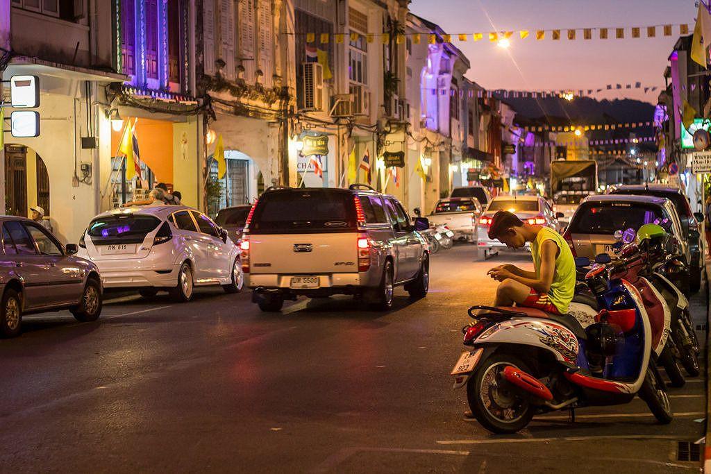 Phuket Town le soir