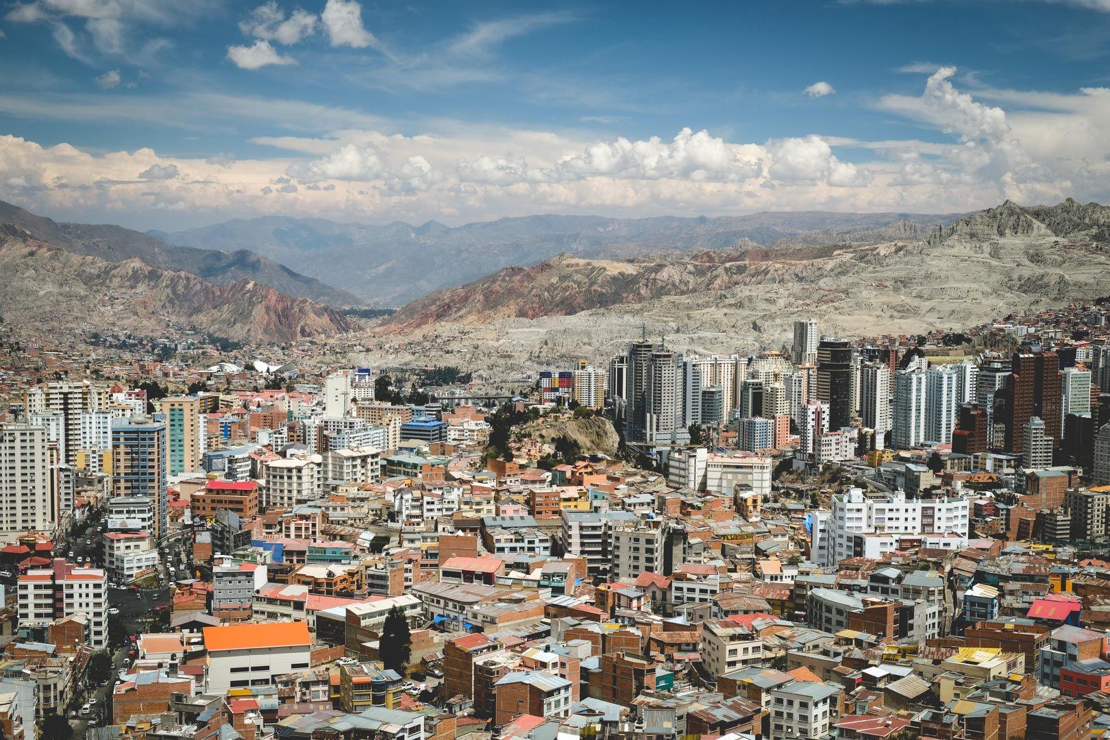 La ville de La Paz est en haute altitude