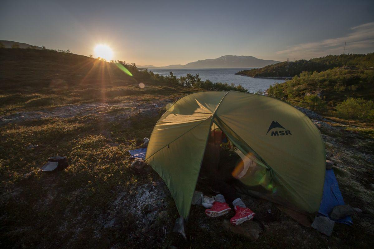 Camping au froid en Norvège