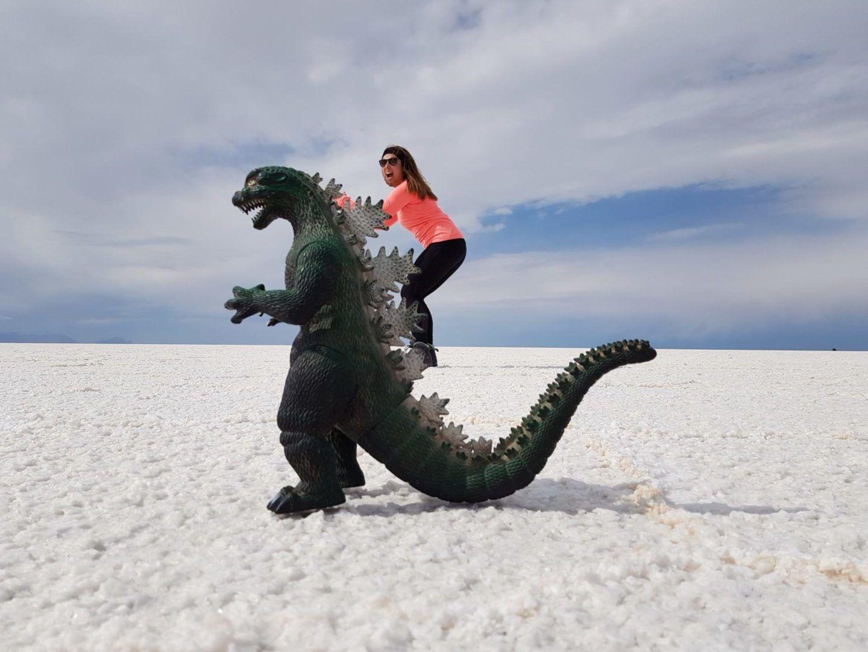 Photo perspective dans le désert de sel d'Uyuni
