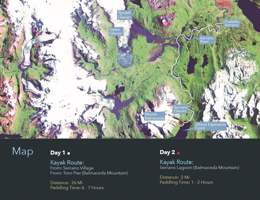 Itinéraire de Kayak en Patagonie