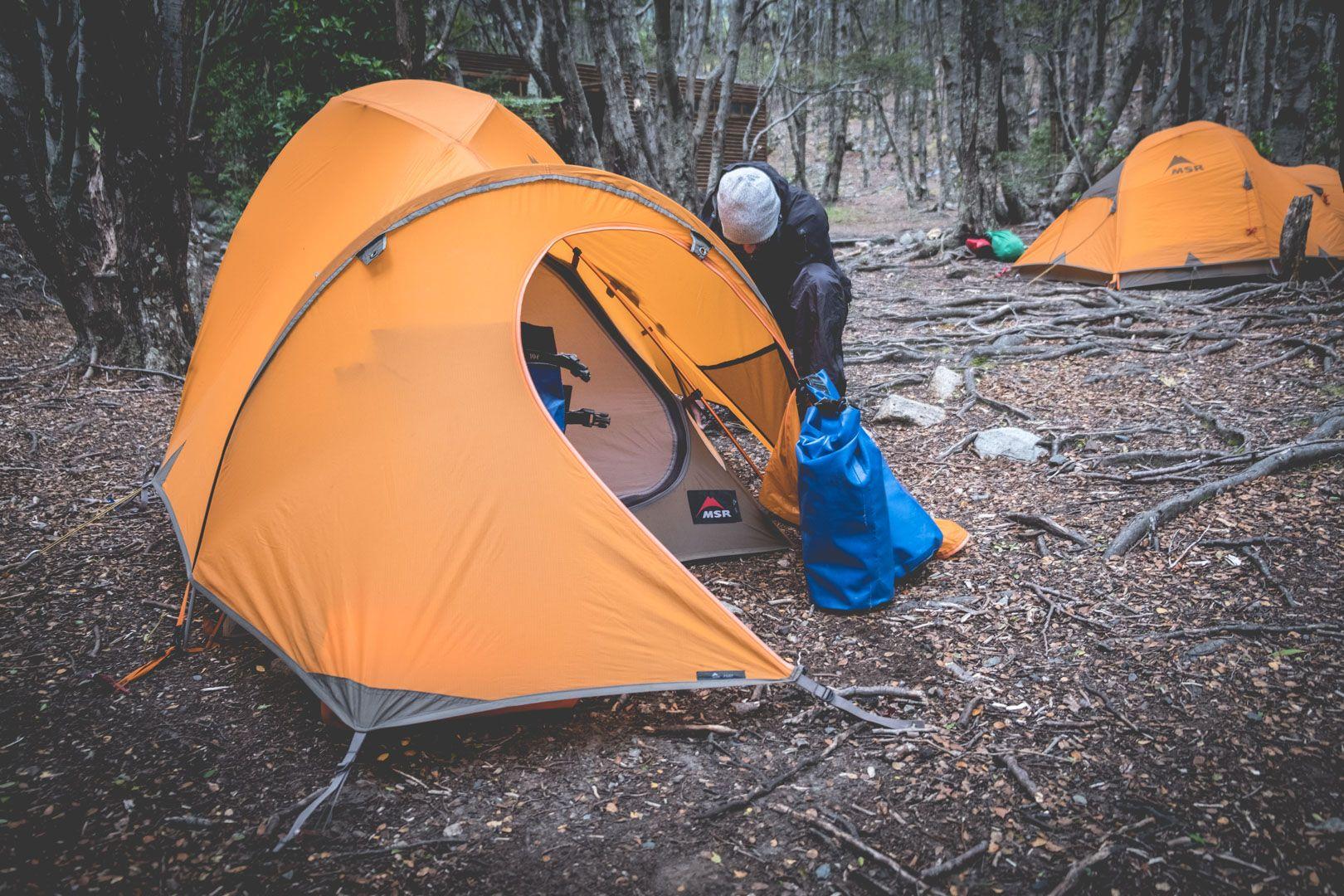 Camping au Parc national Bernardo O'Higgins