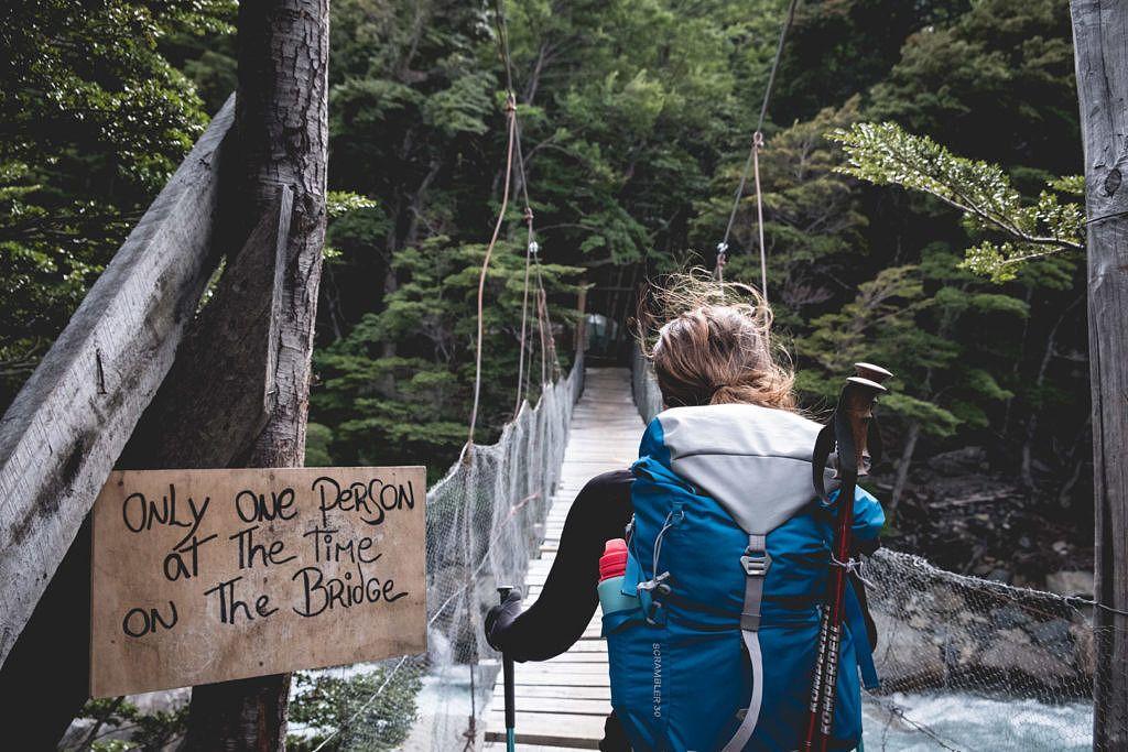 Ponts suspendus sur le W Trek