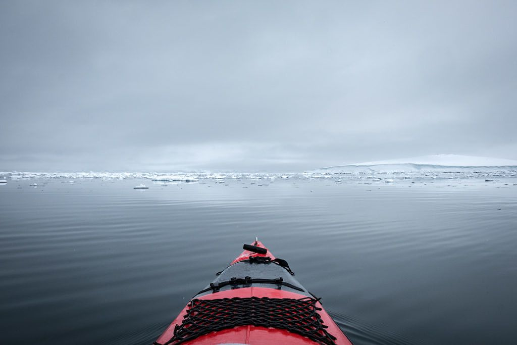 Kayak en Antarctique